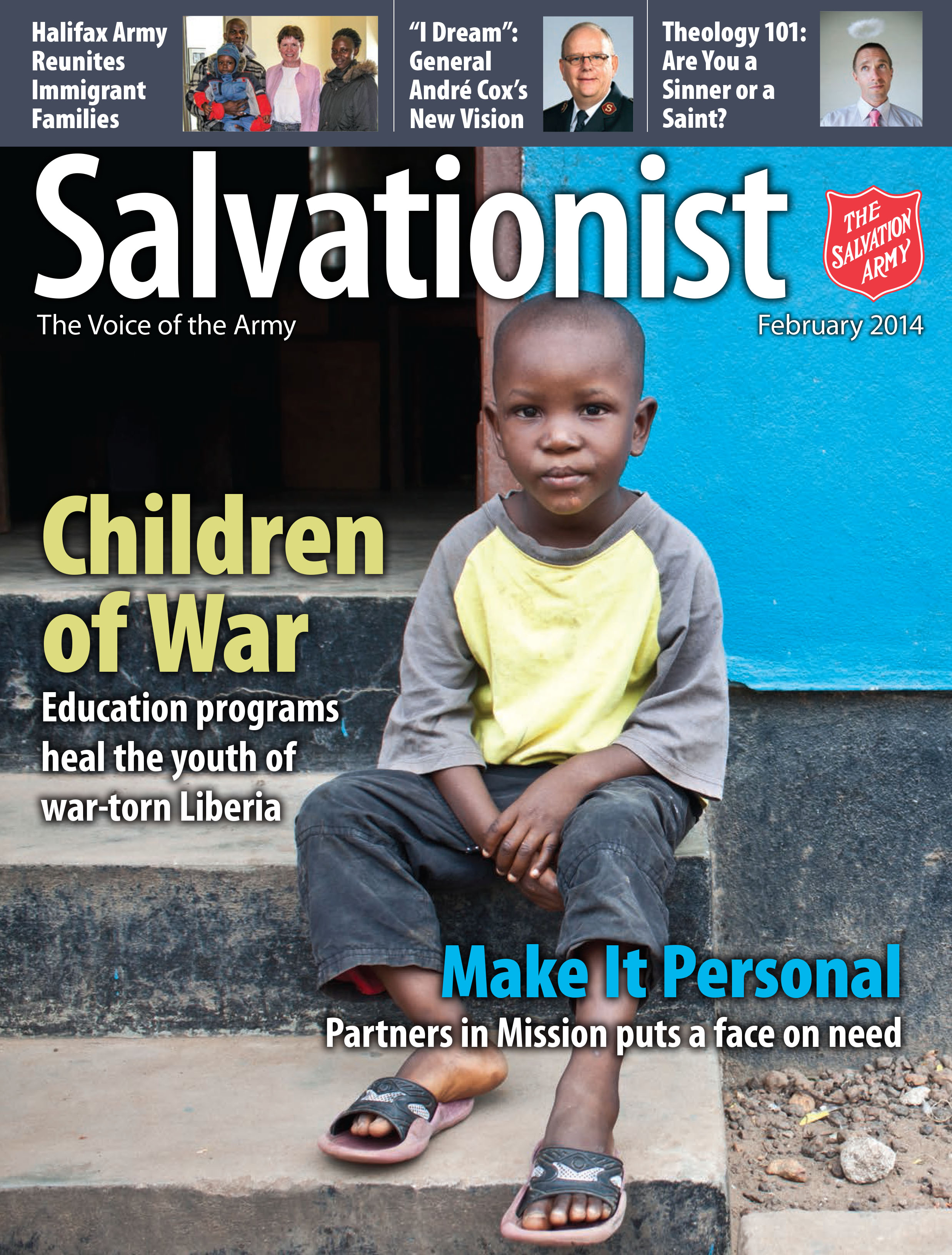 Cover of February 2014 issue of Salvationist