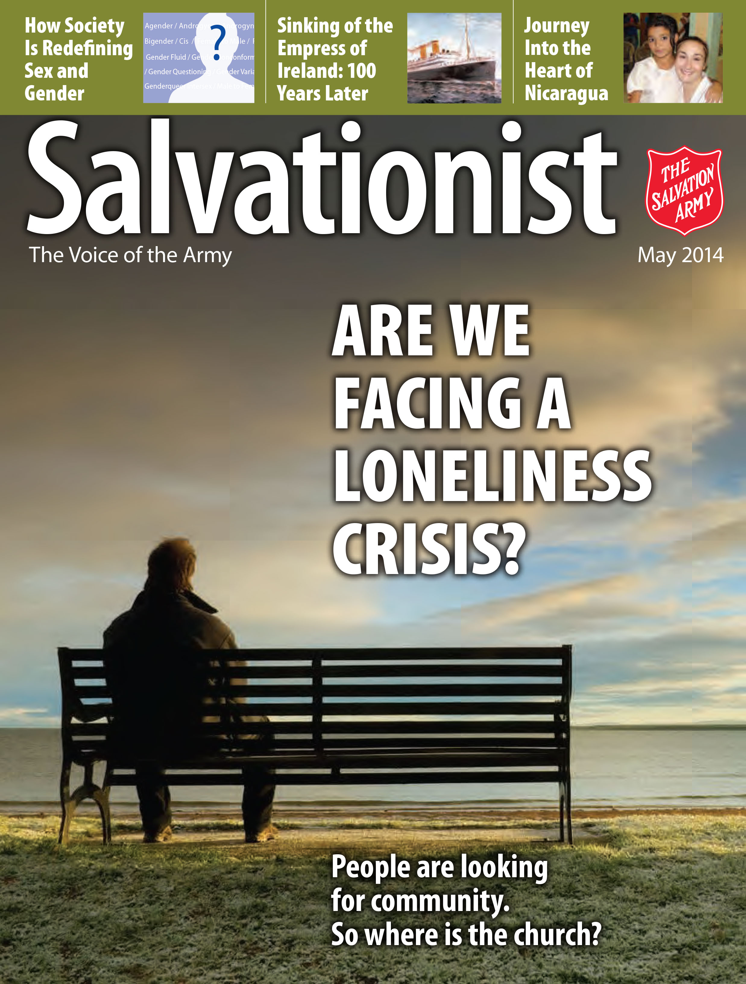 Cover for the May 2014 issue of Salvationist