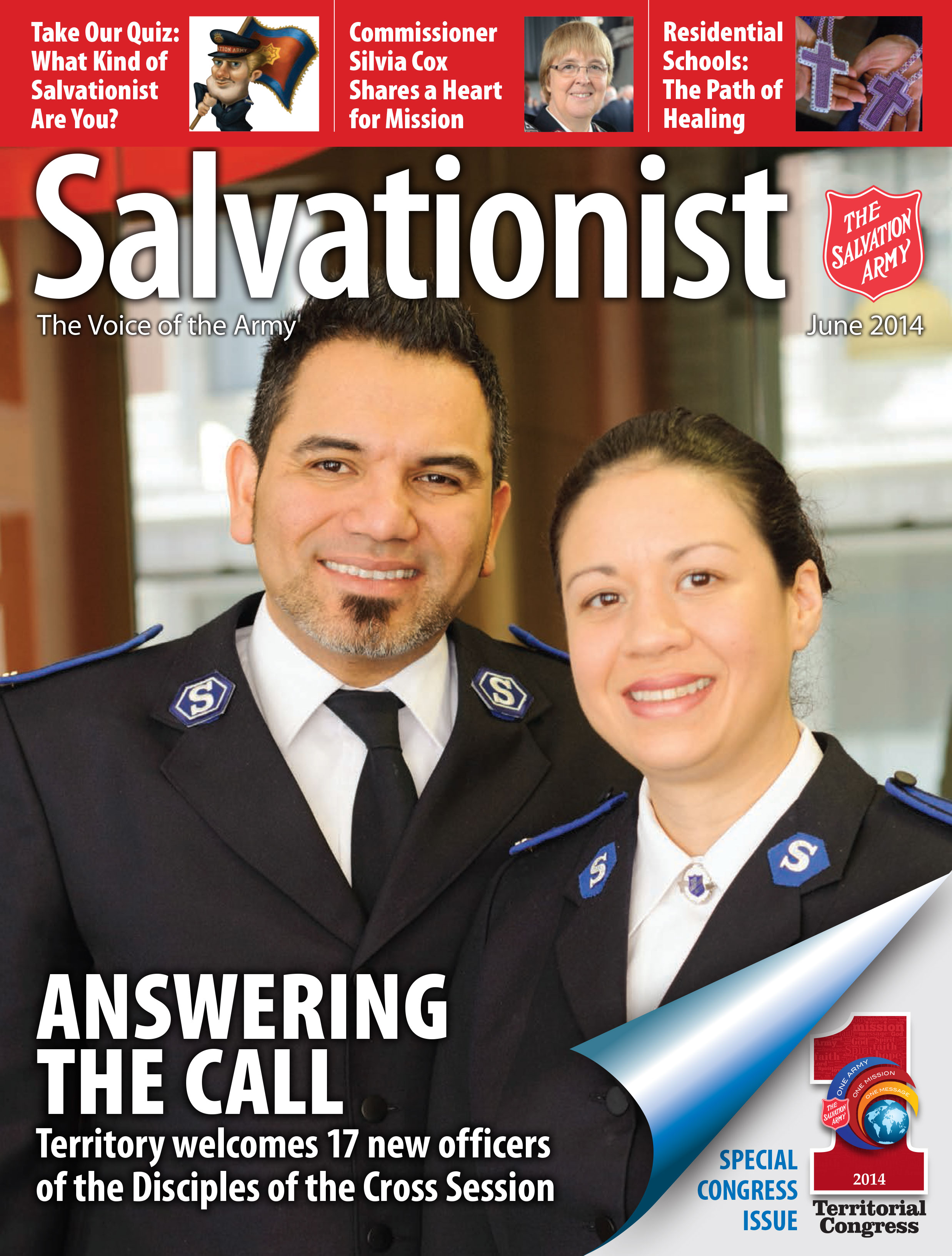 Cover for the June 2014 issue of Salvationist