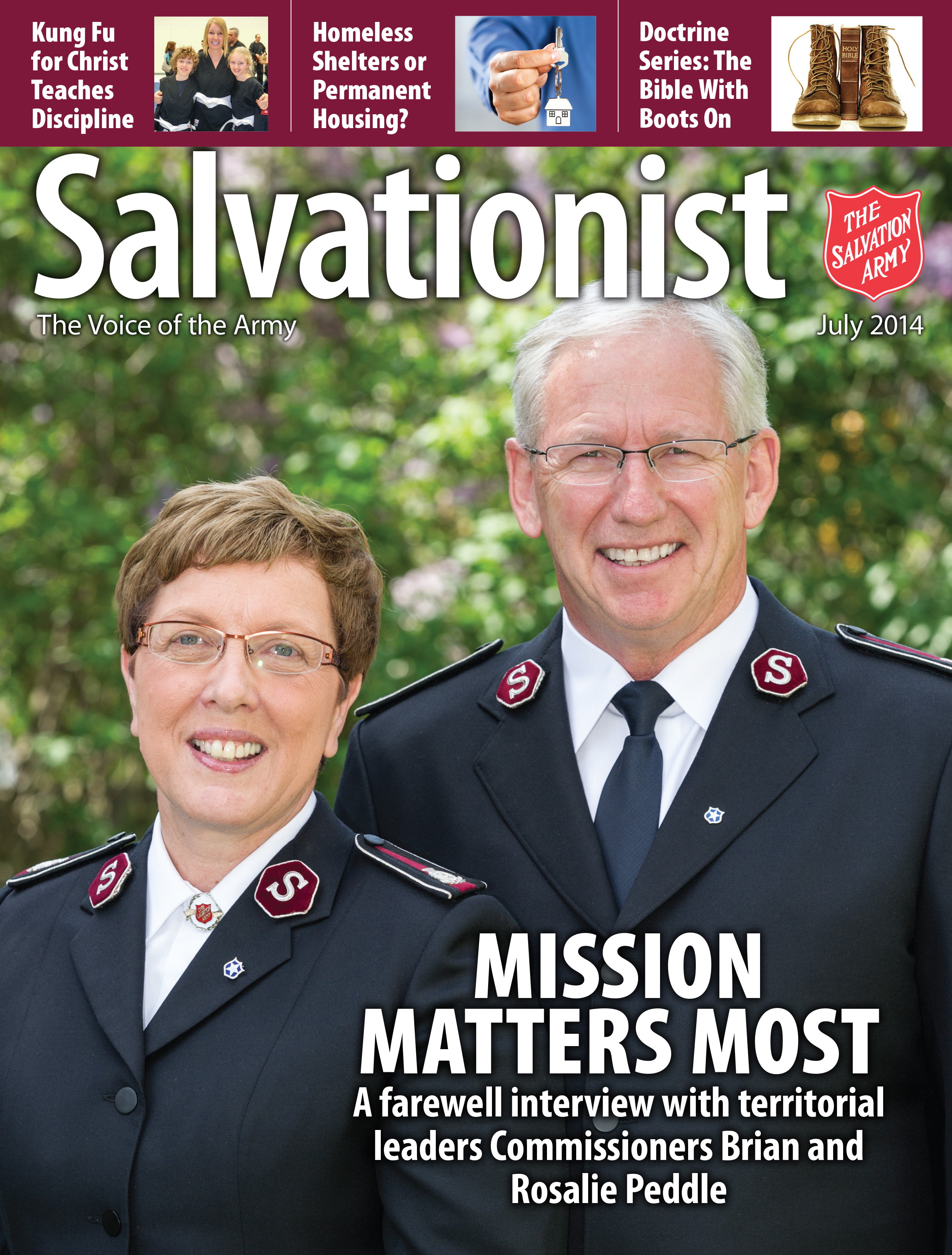 Cover for the July 2014 issue of Salvationist