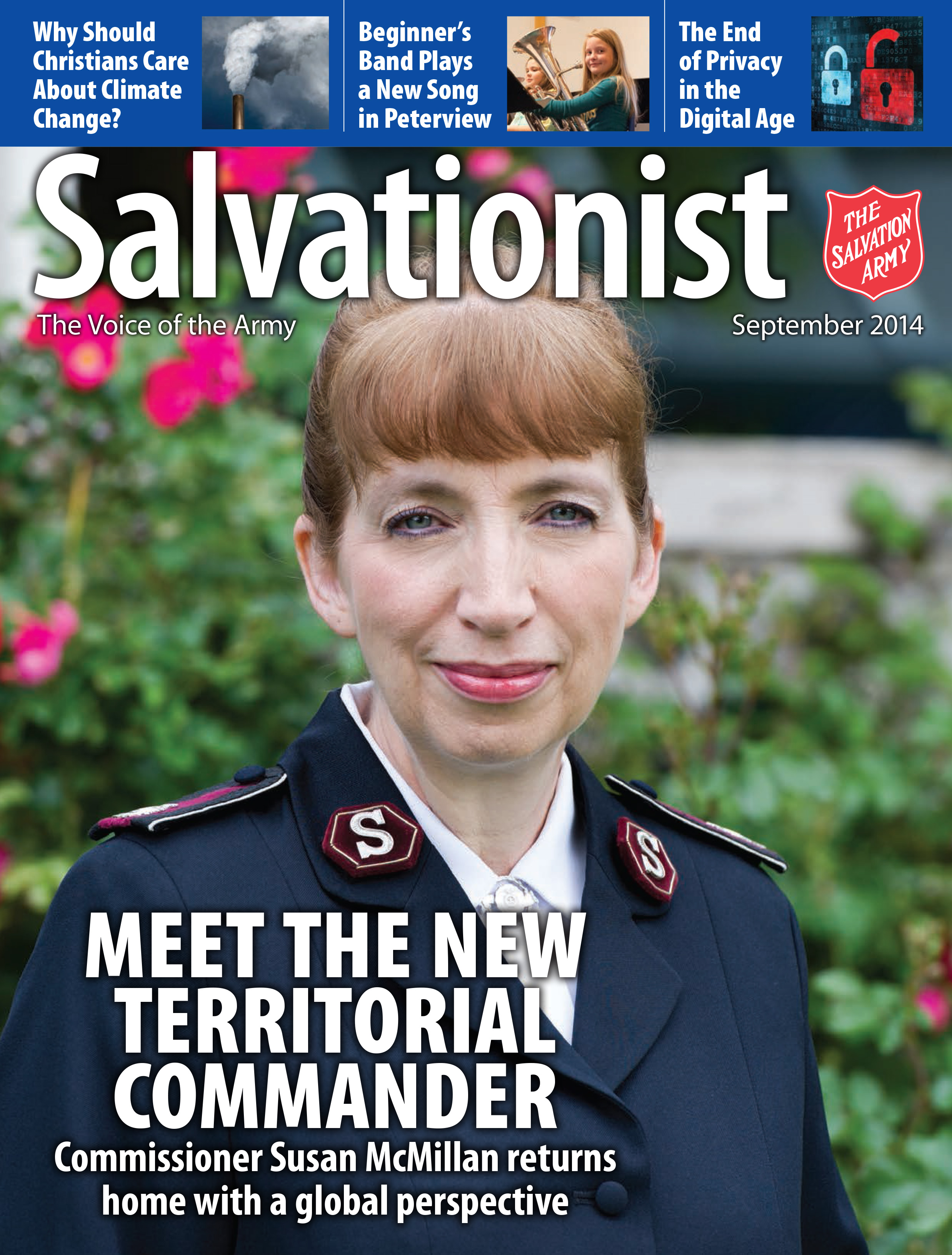 Cover for the September 2014 issue of Salvationist
