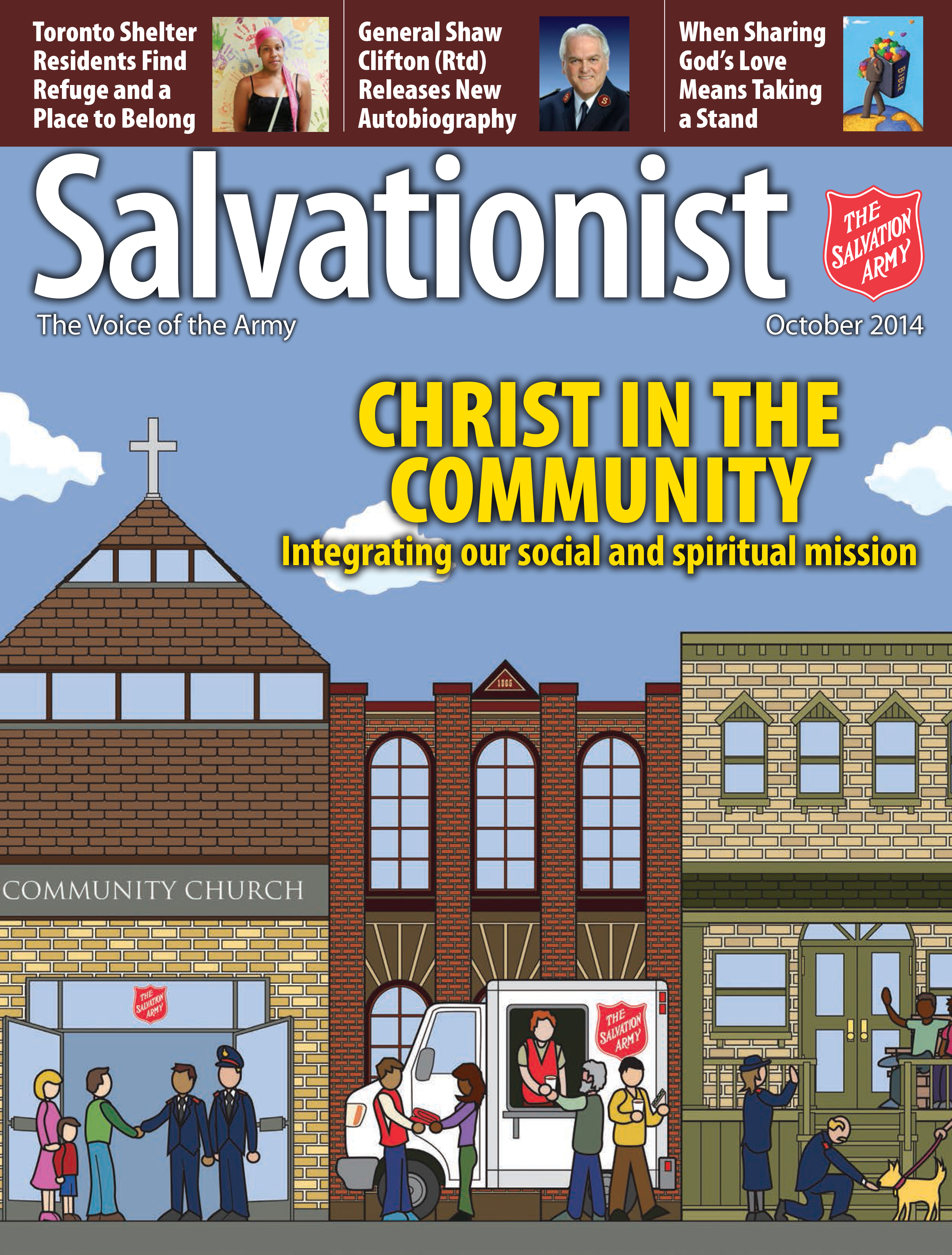 Cover for the October 2014 issue of Salvationist