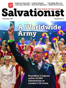The Salvation Army - Salvationist.ca - Cover of September 2015 issue of Salvationist