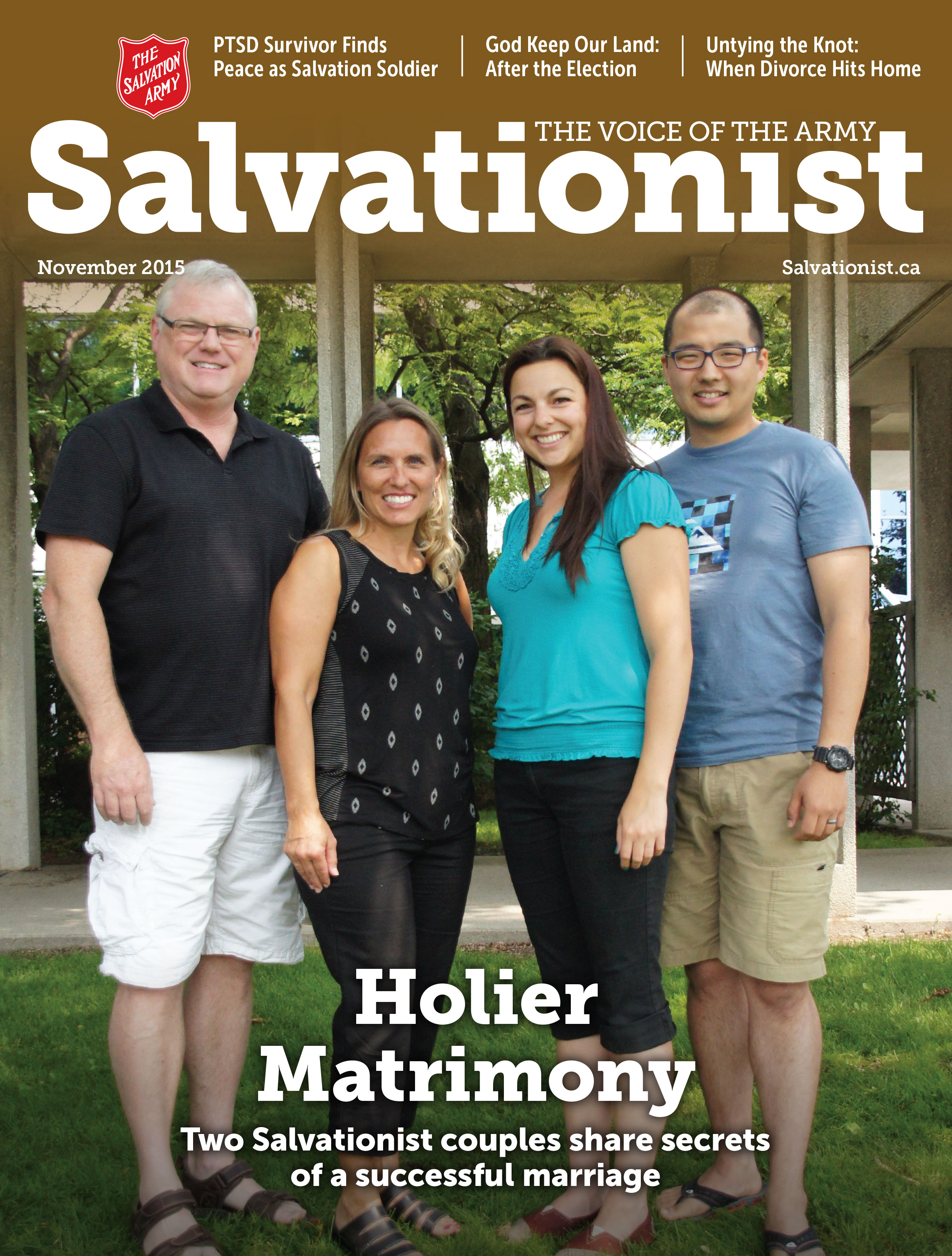 The Salvation Army - Salvationist.ca - Cover of November 2015 issue of Salvationist