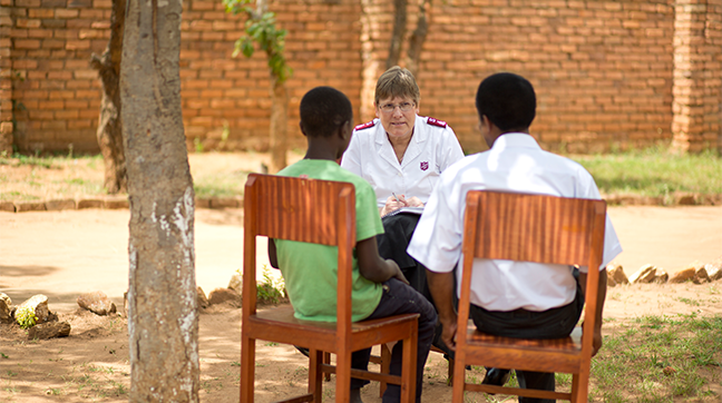 World Missions Director, Major Gillian Brown, speaks with Oswald about his experience.