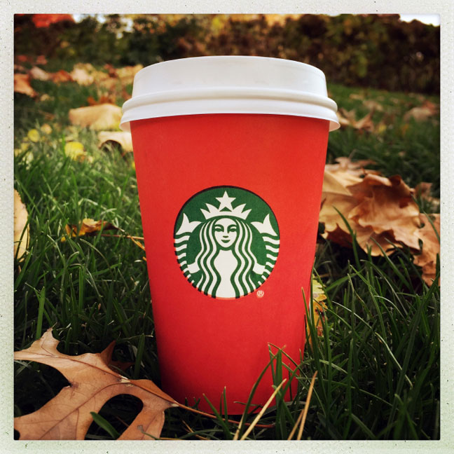 Photo of Starbucks red holiday cup