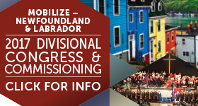 Advertisement for Newfoundland and Labrador 2017 Divisional Congress and Commissioning.