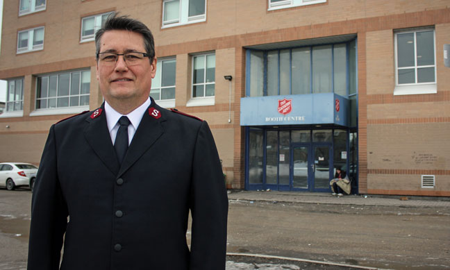 Major Rob Kerr is welcoming refugees to the Booth Centre in Winnipeg