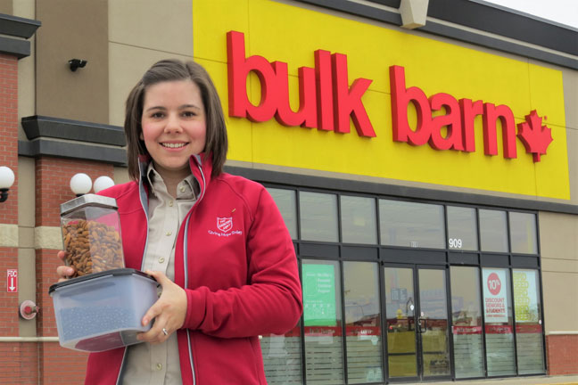 Photo of Lt Laura Van Schaick outside Bulk Barn