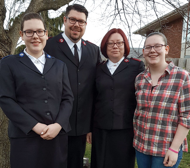 Lts Brad and Wavie Webster and their daughters, Samantha and Emily (Photo: Janice Webster)
