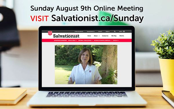August 9th Sunday Online Service Sidebar