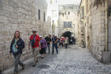 Walking in the footsteps of Christ on the Via Dolorosa