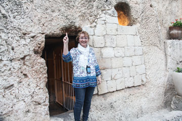 Mjr Marlene George rejoices at the empty tomb