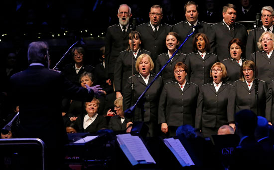 The Canadian Staff Songsters make their debut at Christmas With The Salvation Army