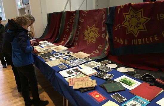 An exhibition of early Poplar Corp memorabilia