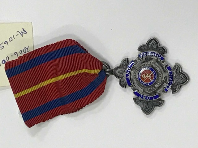 "Early form of the ""Long Service Badge""."