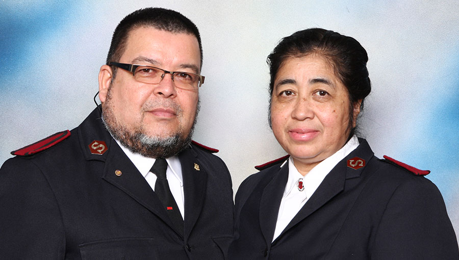Auxiliary-Captains Carlos and Eva Galvez