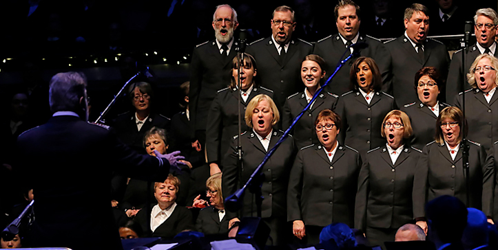 Image of a Canadian Staff Songsters Performance