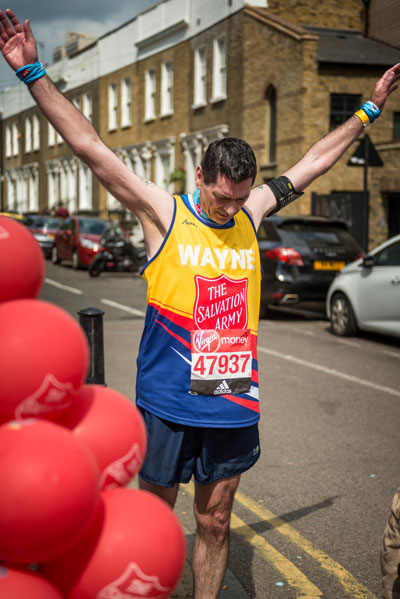 Wayne Bungay runs in the London Marathon