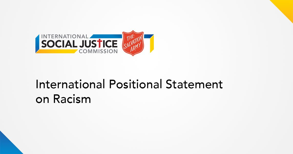Salvation Army Releases International Positional Statement on Racism