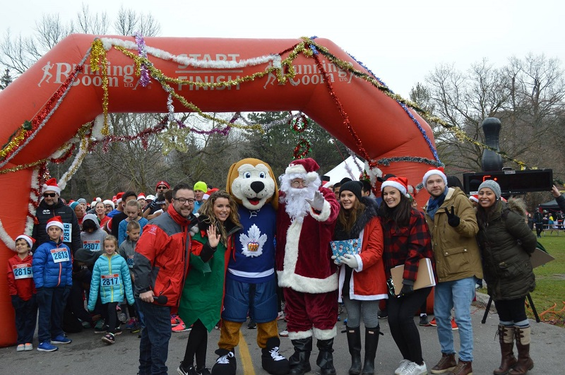 Festive runners are ready to hit the road at Sunnybrook Park in Toronto