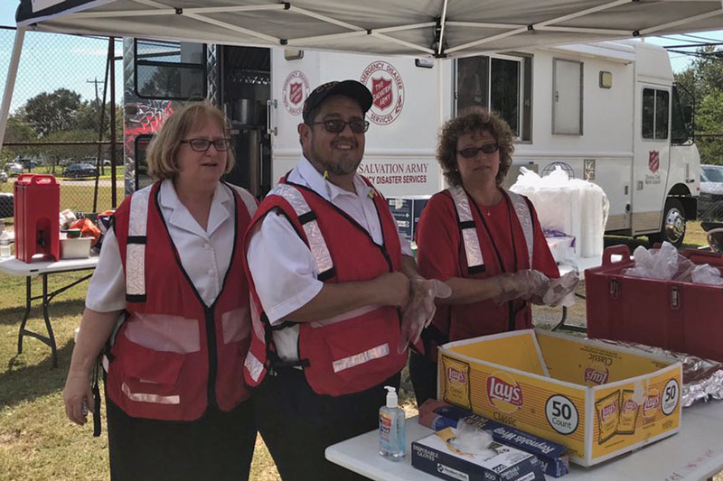 A Salvation Army emergency canteen was on site at the church within hours of the shooting