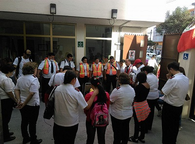 The Salvation Army in Mexico City supporting first responders