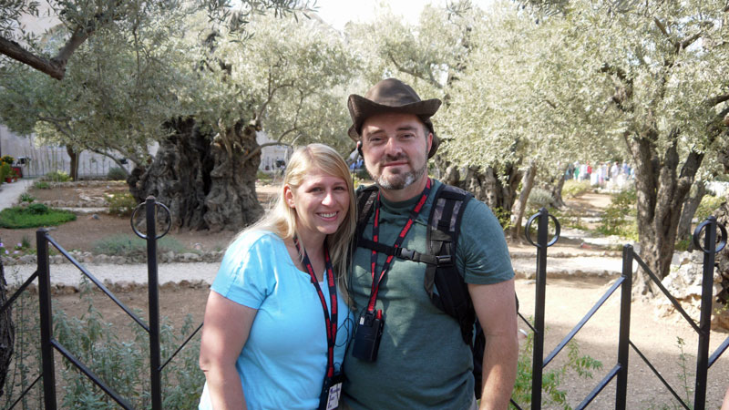 Diane and Eric Stark at the Garden of Gethsemane