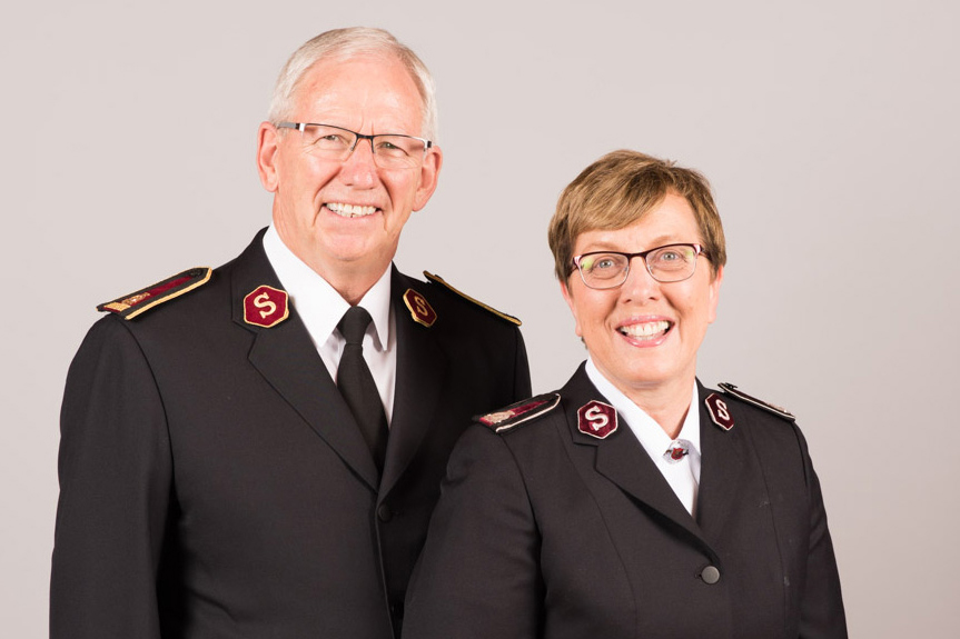 General Brian Peddle and Commissioner Rosalie Peddle