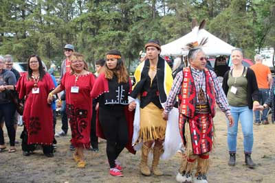 Photo of round dance at pow wow
