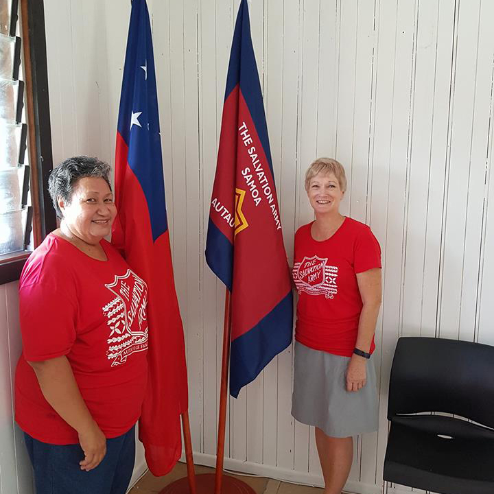 Captain Miriama Simanu and Colonel Jenny Carey are leading the work in Samoa