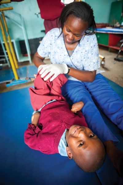 Physical therapy at Joytown Primary School