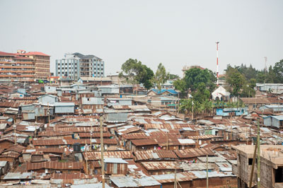 Kibera, an informal settlement outside Nairobi, is the largest urban slum in the world.