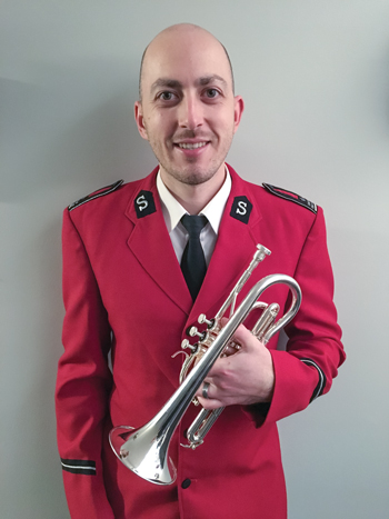 Vos is a member of the Canadian Staff Band