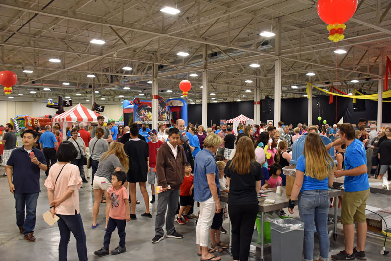 Hundreds of people gathered at the Toronto Congress Centre for the Under the Big Top event
