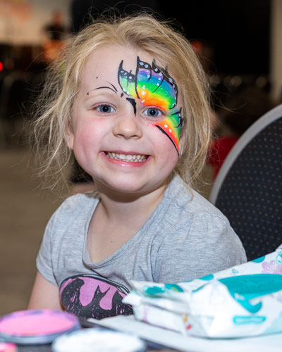 Facepainting was a popular feature of the event