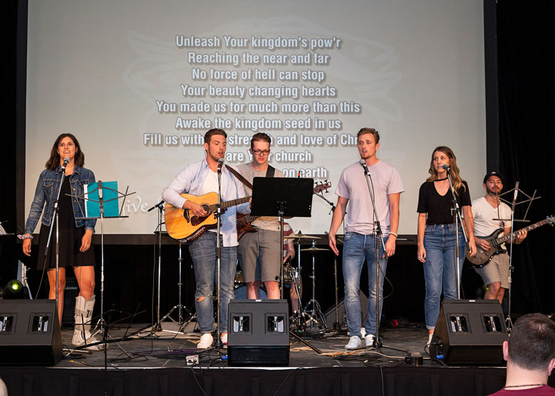 Vibrant worship brings people together for a time of reflection