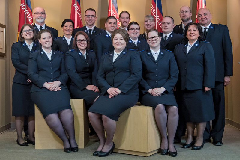 The Messengers of the Gospel ahead of their commissioning in June 2018
