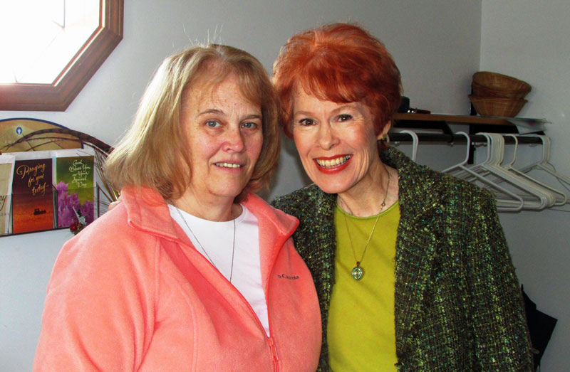 Jeanette Levellie (right) was there for her friend, Lou Ann
