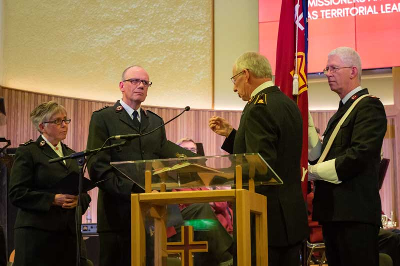 General Brian Peddle called upon the Cotterills to exercise servant leadership