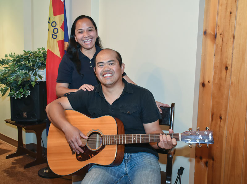 Leah and Ariel Abiertas are members of the worship team at Woodstock CC