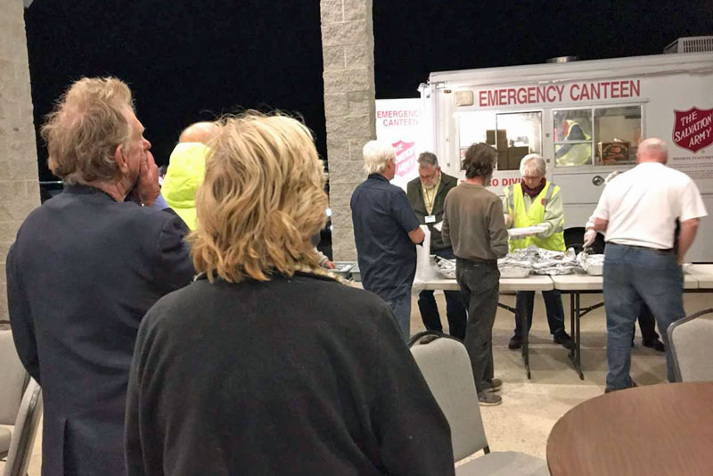 Salvation Army serves meals to wildfire evacuees