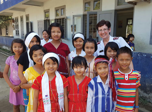 At the Myanmar Phyu children's home