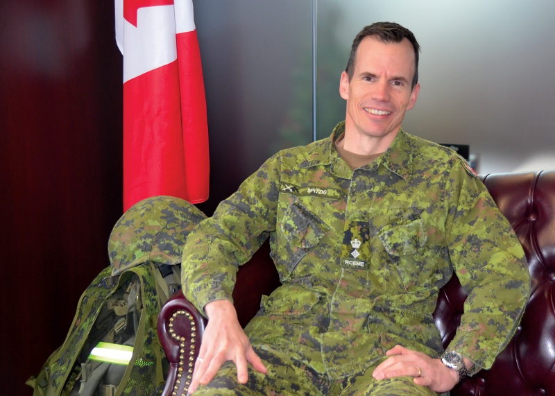 Lt.-Col. Jeff Spitzig in his office at CFB Borden (Photo: Pamela Richardson)