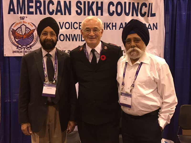 Lt-Col Jim Champ meets with members of the Sikh community