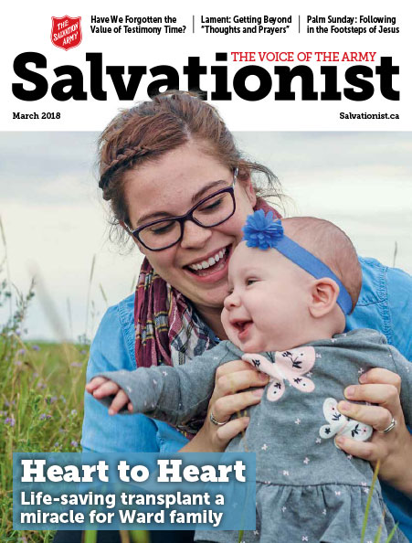 Salvationist Magazine March 2018 issue cover