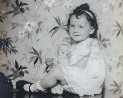 Joan May Hunter at age two, after her adoption