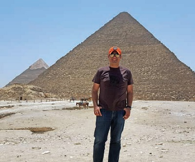 Tharwat visits the pyramids in Egypt