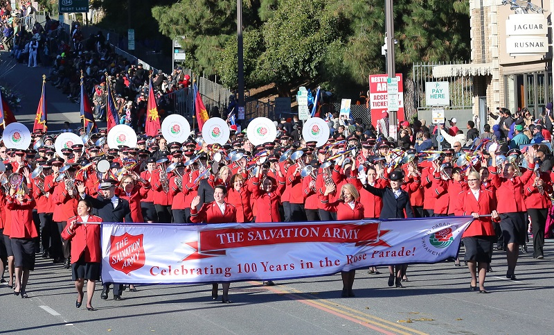 More than 400 Salvationists participated in the Rose Parade