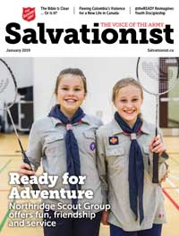 Cover of January 2018 issue of Salvationist
